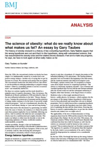 science of obesity